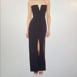 BCBGMAXAZRIA strapless gown